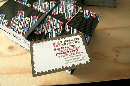 типографический дизайн визитки