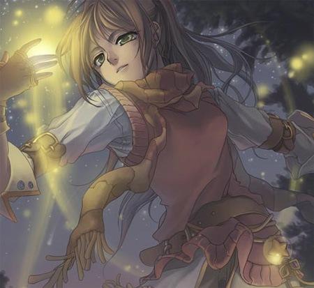 Цифровой рисунок в стиле аниме