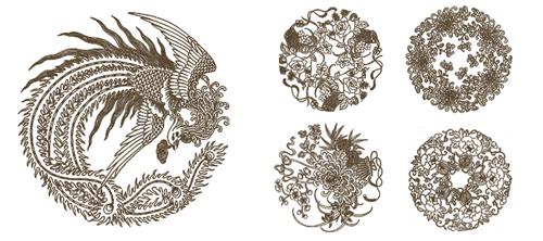 Набор кистей-азиатских эмблем