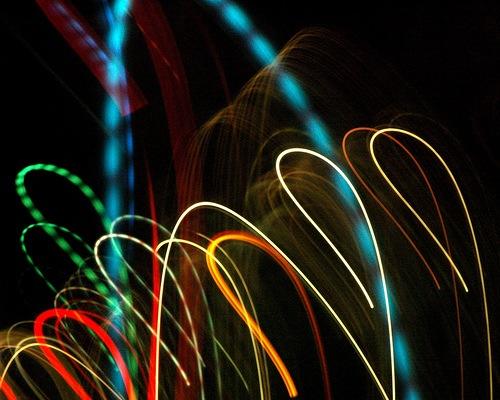 разноцветные крюки света
