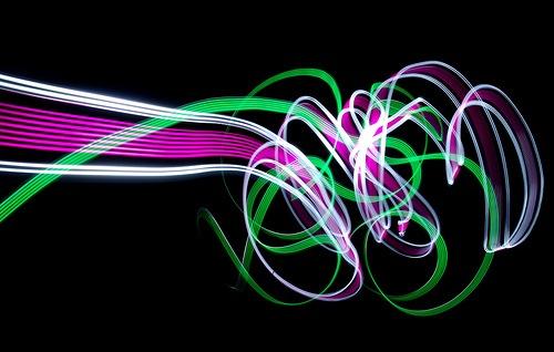 лента световых лучей