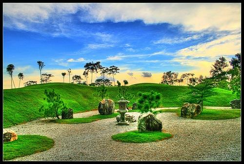 чпонский сад в хдр изображении