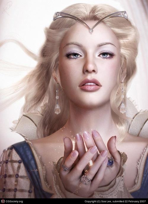 сказочная принцесса в 3д дизайне