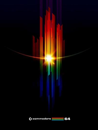 красочные ретро линии