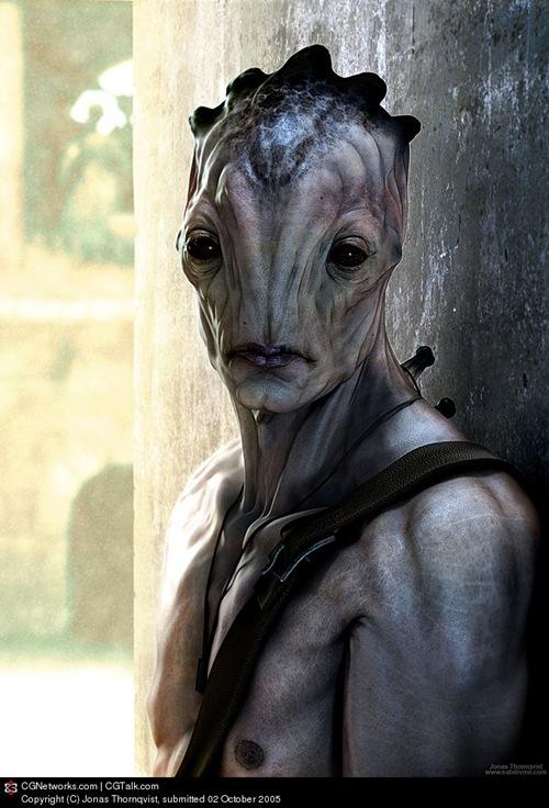 3d изображение инопланетян