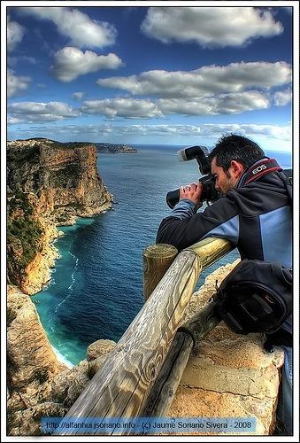 фотография со скалы