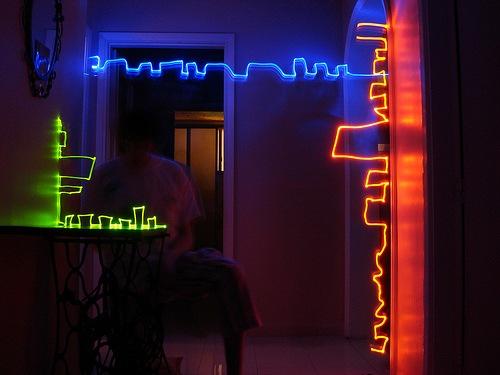 световые узоры