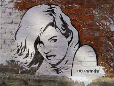 девушки нарисованые на стене