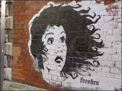 графити девушка