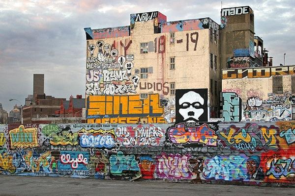 графити на домах и стенах