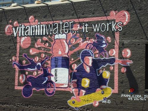 рекламное графити