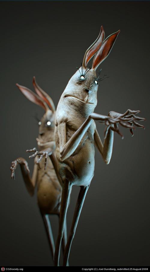 3d кролики-монстры