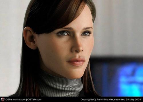 реалистичная девушка созданная в 3д