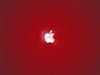 apple в брызгах краски