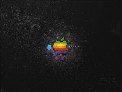 яркий apple на темном фоне