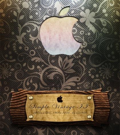 apple обои в стиле ретро