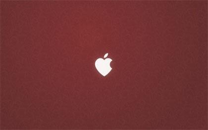 apple в форме сердца