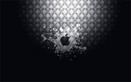 apple на узорчатом фоне