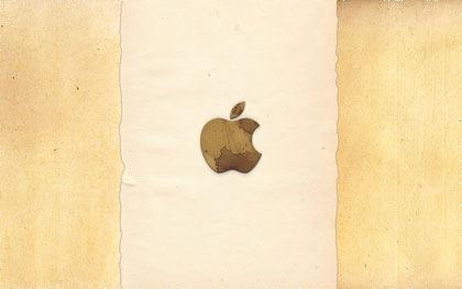 apple обои в стиле гранж