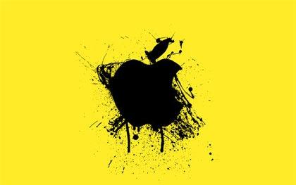 разводы краски на apple обоях