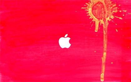 яркие розовые apple обои