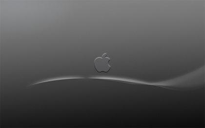 apple в серых тонах