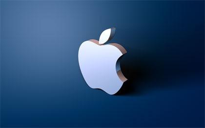 простые apple обои