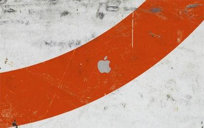 apple в стиле гранж