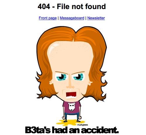 примеры страниц ошибки 404