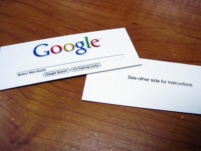 дизайн визитки для работников гугла