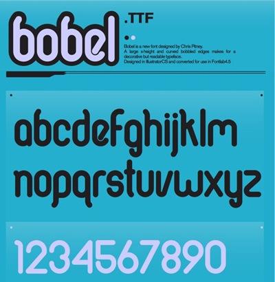 округлый шрифт