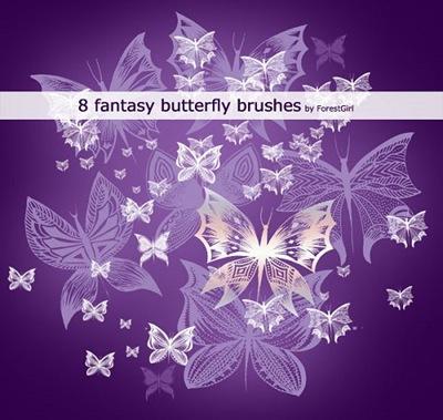 Фантастические кисти-бабочки