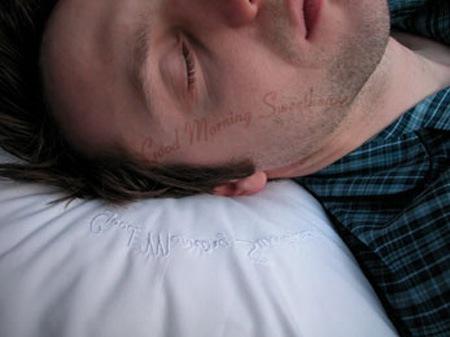 Подушка с сообщением