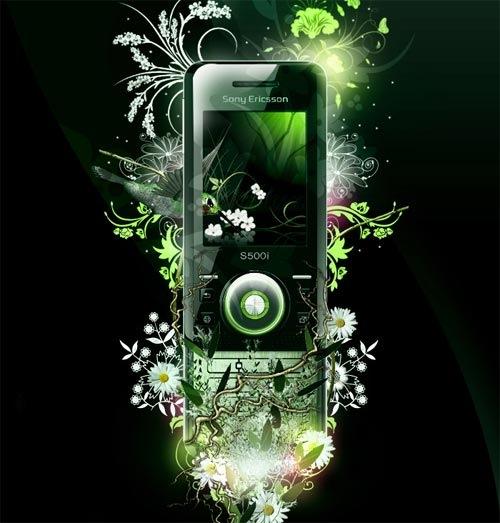 цветущий Sony Ericsson S500i