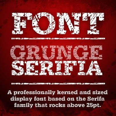 шрифты в стиле гранж