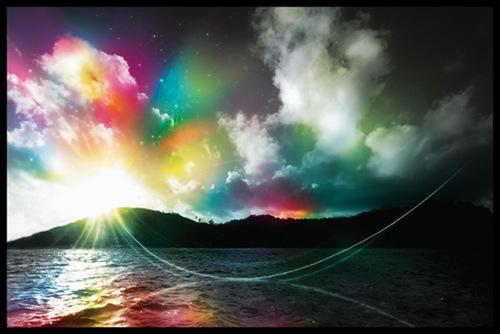 радужные краски неба