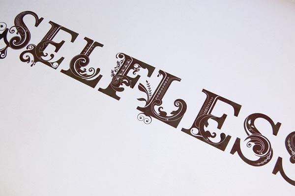 стильные типографические работы