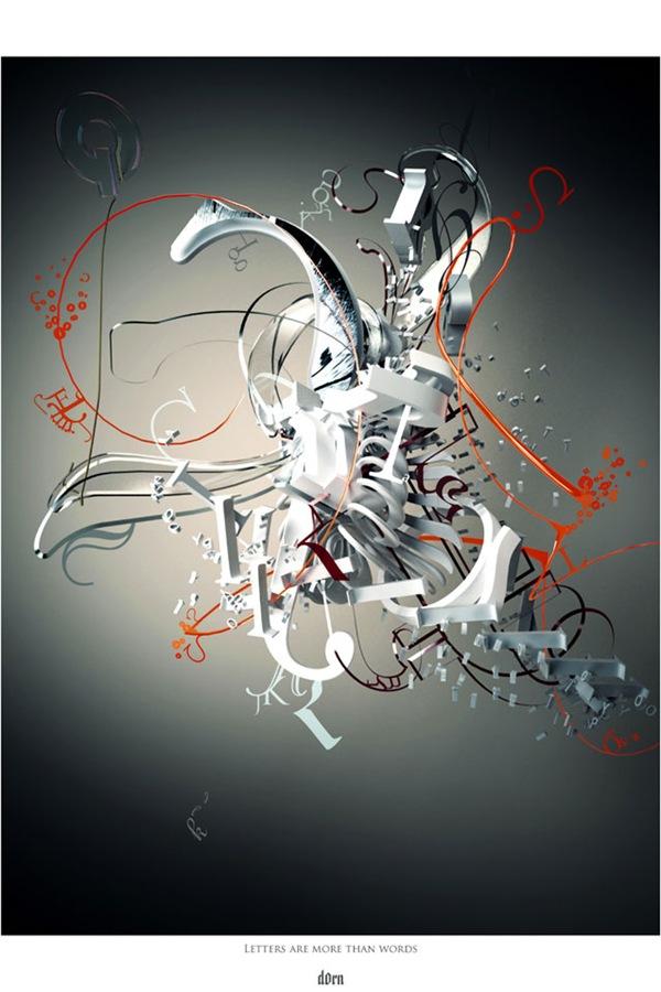 Креативный дизайн из букв