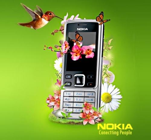 Сочная летняя композиция Nokia phone v.2