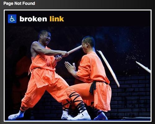 сломанный линк
