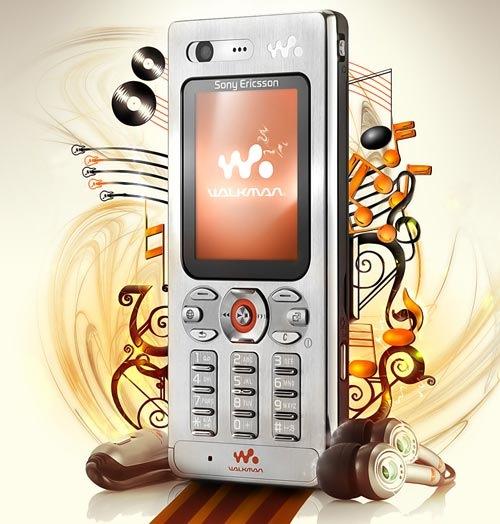 Рекламный постер Sony Ericsson W880i