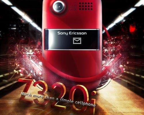 Дизайн постера Sony Ericsson Z320i