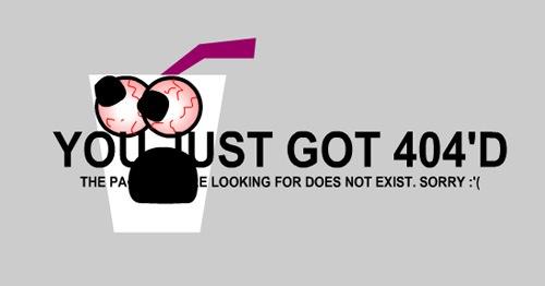 Забавная страница ошибки 404
