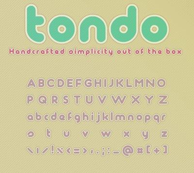 Полный округлый шрифт