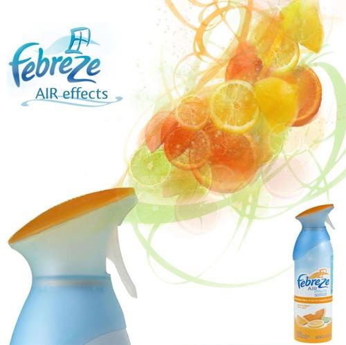 Креативный дизайн постера для освежителя воздуха Febreze