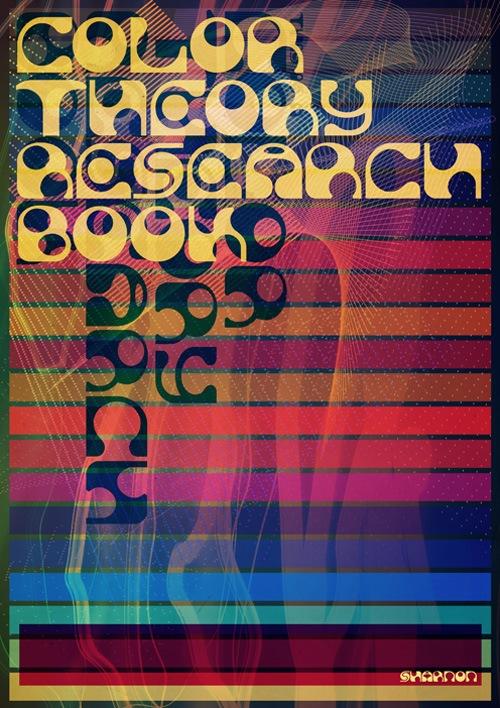 разнацветная типографика