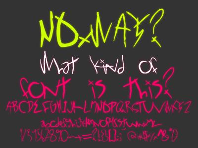 шрифт-каракули