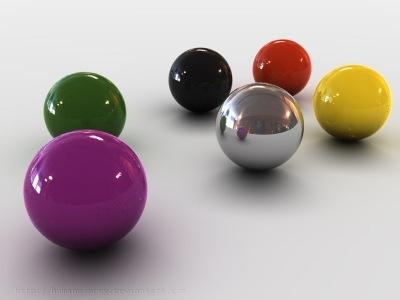 разноцветные 3д шары