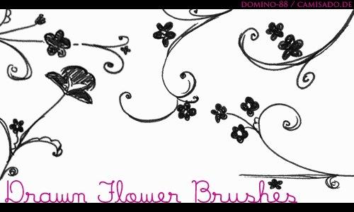 15 кистей рисунков цветов