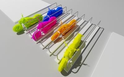 разноцветные 3д мотоциклы
